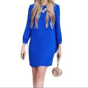 Banana Republic Royal Blue Shift Dress Sz 8 Petite